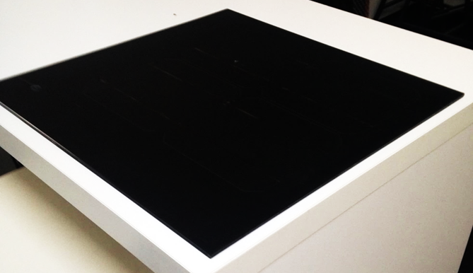 Black solar panel prototype